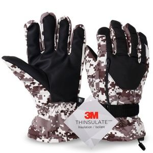 Winter Sports Thinsulate Waterproof Ski Gloves
